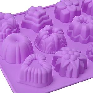 la silicona cupcake moldes es adecuado para una variedad de delicias en la cocina.