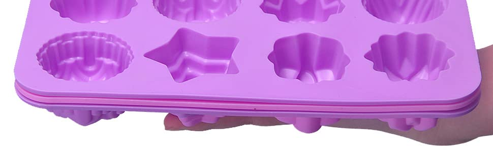 Moldes silicona cupcake Moulds Jabón Forma Back Praline