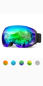 ENKEEO Gafas de Esquí Lente Doble Anti-Vaho 100% UV400 ...