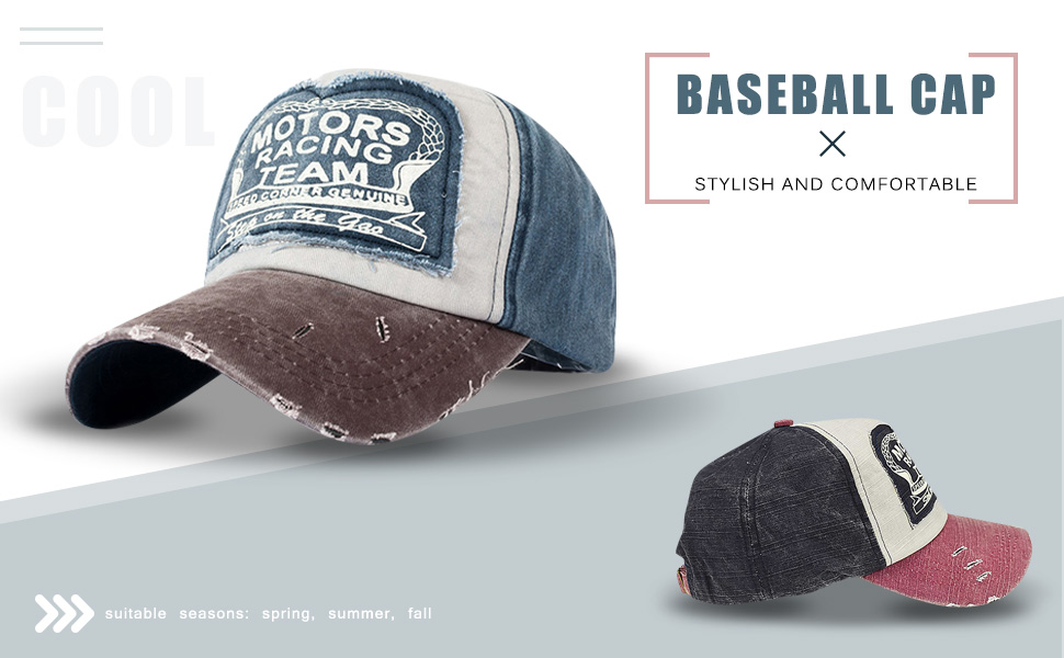 Tuopuda Nueva Unisex Gorra de béisbol algodón Mezclado Motocicleta ...