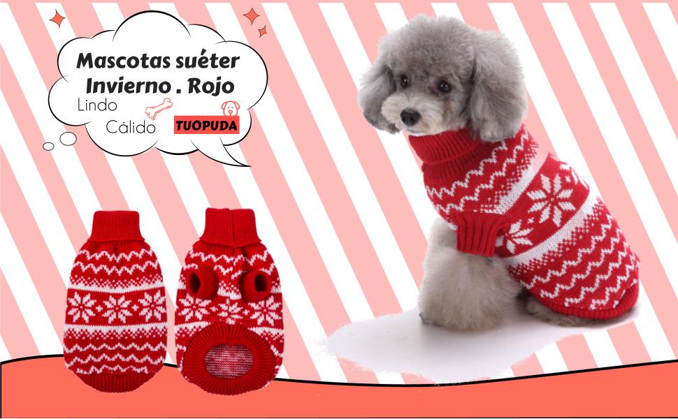 Descripción del producto. LDD13101604RDL_ES. Mascotas suéter