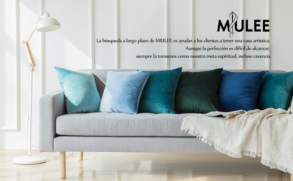 MIULEE Pack de 2, Terciopelo Suave Juego de Mesa de Manta de decoración Cuadrado Fundas de Almohada Funda de cojín para sofá Dormitorio Coche 18 x 18 ...