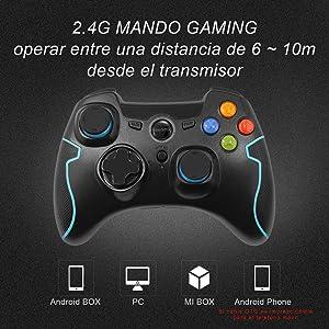Android y Operaci/ón Rango hasta 10M PS3 Rojo Windows 8 EasySMX Gamepad para PC, Regalos Mando Inal/ámbrico PS3 Gamepad Wireless Compatible con Windows XP y Vista