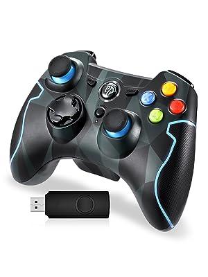 Mando para PC, [Regalos Para Padre] EasySMX Mando Inalámbrico PS3 Gamepad Wireless Compatible con Windows XP y Vista, Windows 7/8/8.1/10, PS3, Android y Operación Rango hasta 10M: Amazon.es: Electrónica