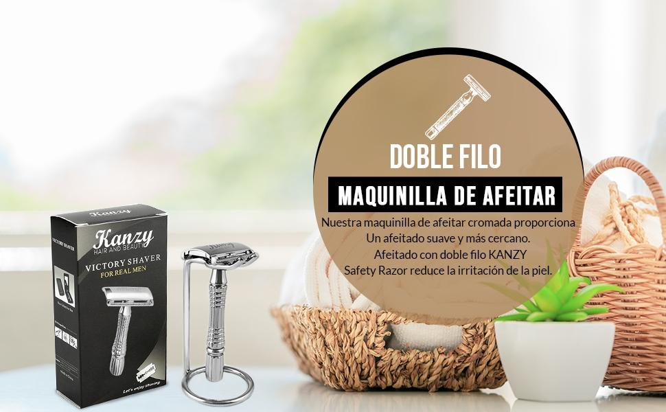 KANZY maquinilla de afeitar de doble filo - Afeitado manual – Safety Razor