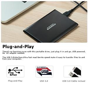 Conectividad USB 3.0 y 2.0 de alta velocidad SuperSpeed USB que puede transferir datos al alza a 5 Gbit / s (625 MB / s), que es aproximadamente diez veces ...
