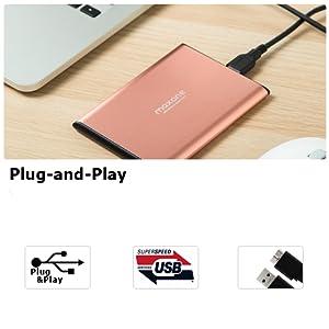 Disco duro externo portátil  2.5 inch USB 3.0 hdd maxone expansión  copia  seguridad  almacenamiento