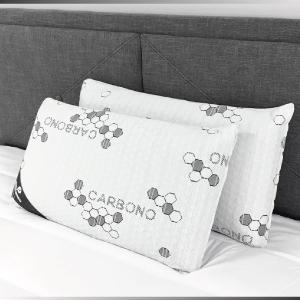 Pack 2 almohadas viscoelásticas de carbono en copos | 100