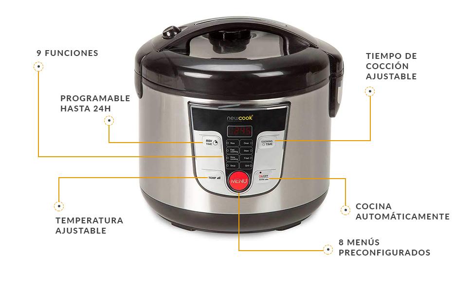 Robot de cocina multifunciã³n newcook
