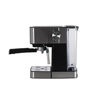 IKOHS Cafetera BARISMATIC 20b - Cafetera Espress, Espresso, Cappuccino, Late, Presión 20 Bares, 1,5 L, Superficie Calientatazas, Control Digital, ...