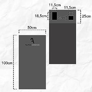 Toalla de Microfibra de Deporte para Hombre y Mujer Asa Para Colgar en el Gym y Bolsillos Transparentes Para Smartphone y Llaves Toalla de Gimnasio con Revestimiento Antideslizante Alphachoice