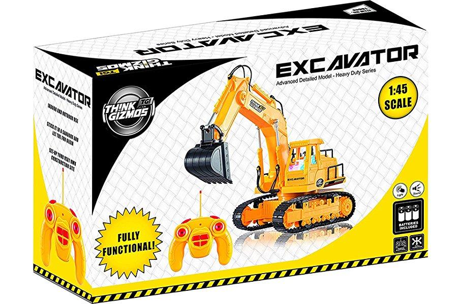Éste Excavador a Control Remoto está listo para usar ni bien sale de su caja y no requiere armado. Todas las baterías están incluidas en la caja y por eso ...