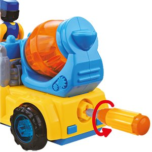 Este impresionante Juguete Desmontable para niños y niñas se puede hacer en 4 diferentes modelos utilizando las herramientas incluidas.
