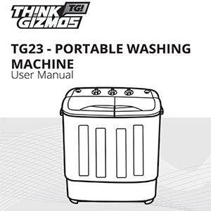 Lavadora portátil TG23 - lavadora de la bañera gemela con Ciclo de ...