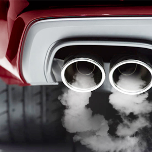 Inspección de humo de coche