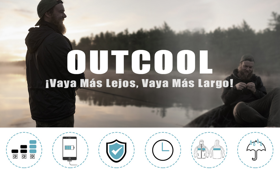 OUTCOOL Chaleco Calefactable Mujer Calefacción Chaleco
