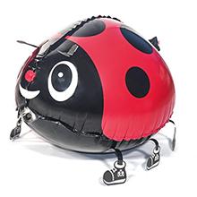 PartyWoo Ladybug Fiesta Globos, Globos Ladybug 39 Piezas Globos Rojos Globos Lunares Globos Negros y Globos Aluminio Globos Caminar para Ladybug ...