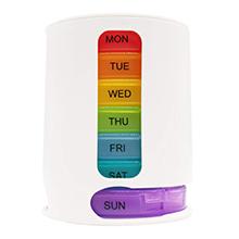 PuTwo Pill Organizer Weekly, Pastillero dispensador para los 7 días de la semana 4 compartimientos