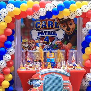 PartyWoo Paw Patrol Globos, Globos 70 Unidades de 12 Pulgadas Paquete de Globos Amarillos Globo Azul Globos Rojos y Globos Blancos para Decoracion ...