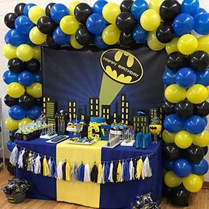 PartyWoo Batman Cumpleaños 80 pzas Paquete de Globos de 12 ...