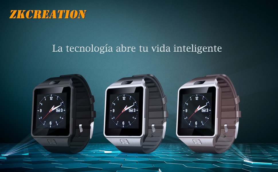 smartwatch ZKCREATION Bluetooth Reloj Inteligente DZ09 smartwatch sim Rastreador Fitness smartwatch Hombre Pulsera Actividad Inteligente whatapp ...