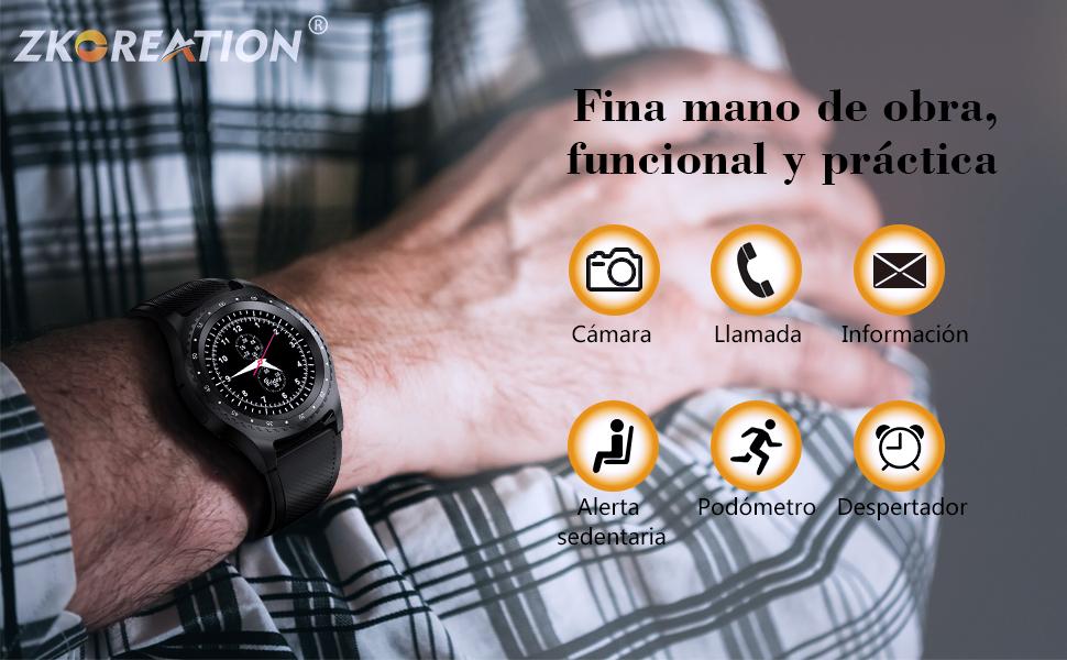 El elegante reloj ZKCREATION abre tu salud y tu vida feliz.