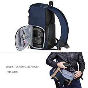 Vintage Impermeable Lona cámara bolsa bolso de la cintura para el mal de cámara y lente Flash 02