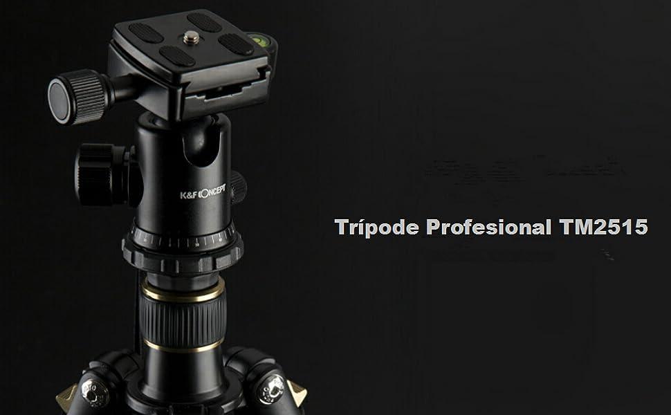 K&F Concept Trípode TM2515 para Cámara Réflex con Monópode, 360 ...