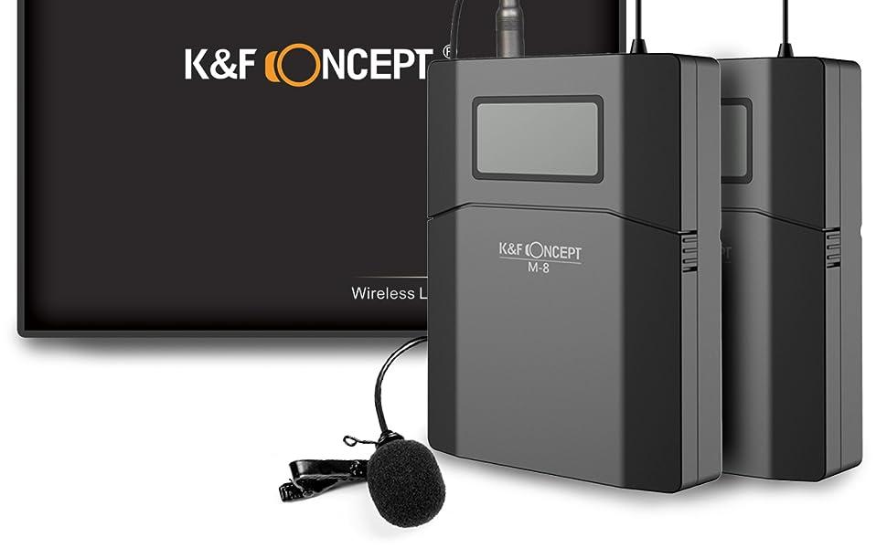 K&F Concept Micrófono Lavalier Solapa Inalámbrico con Interfaz de ...