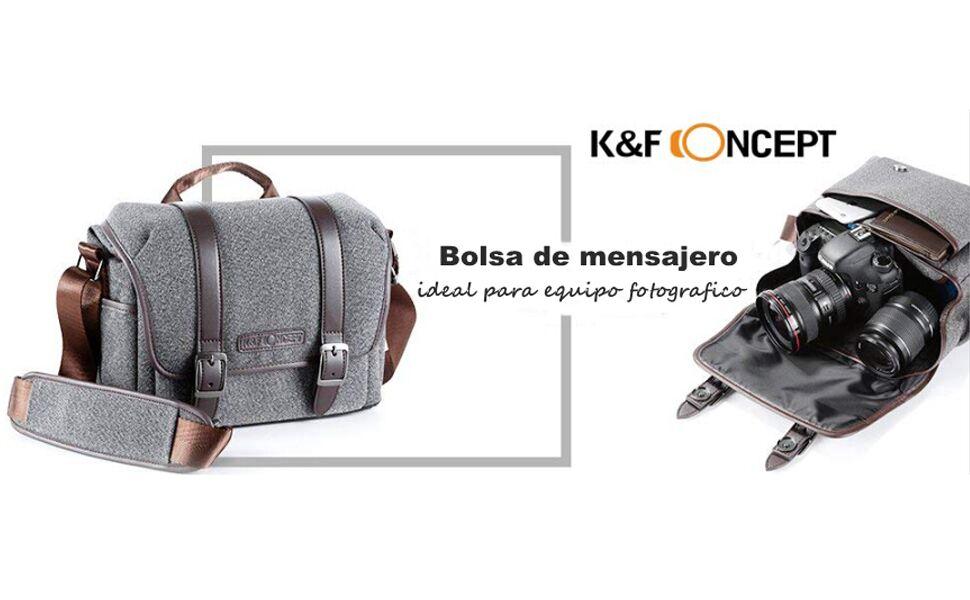 K&F Concept - Bolsa de Transporte con Compartimentos para Cámara ...