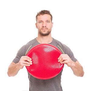 Cojin equilibrio »PumpUp« bomba incluida / Disco equilibrio, disco con nudillos, cojín hinchable / cojin de balance rodondo neumático / Disco de ...