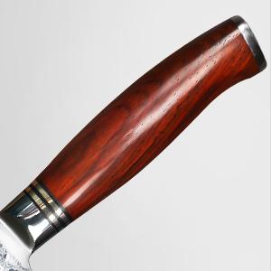 YARENH Cuchillos de Cocina Verdura 17cm,Cuchillo de Cocina Profesional de Acero de Japones Damasco,Mango de Madera Dalbergia,Cuchillos de Cocinero ...