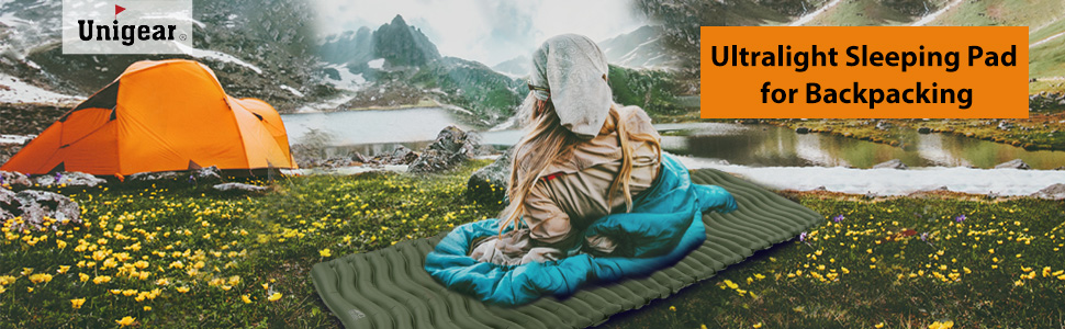 Unigear Esterilla Inflable Portatíl Colchón de Aire para Camping Acampa Colchones Hinchable Utraligero y Resistente Cama Colchoneta de Dormir al Aire ...