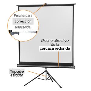 celexon Pantalla trípode para Escuela, proyección, presentación y ...