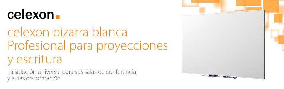 celexon Pizarra Blanca Profesional para proyecciones y Escritura ...