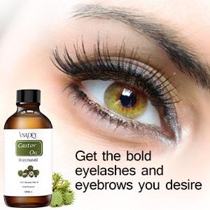 VSADEY Aceite de Ricino Orgánico 100% Natural Castor Oil Aceite de Ricino 100% Puro Aceite Prensado en Frío Estimula el crecimiento del cabello Ceja Pestañas y Cejas con 5 Juegos de Cepillos-120ML: