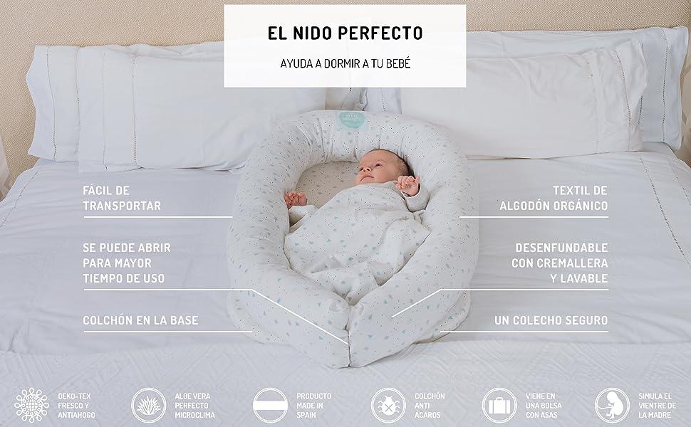 Cuna Nido Colecho Bebé Algodón Orgánico Petite Marmotte ...
