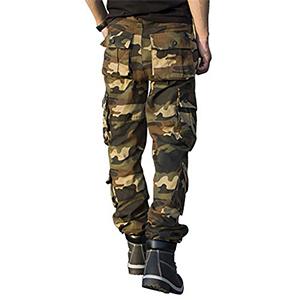 TAIPOVE Pantalones Cargo Largo Camuflaje para Hombre 09a86fd5adef