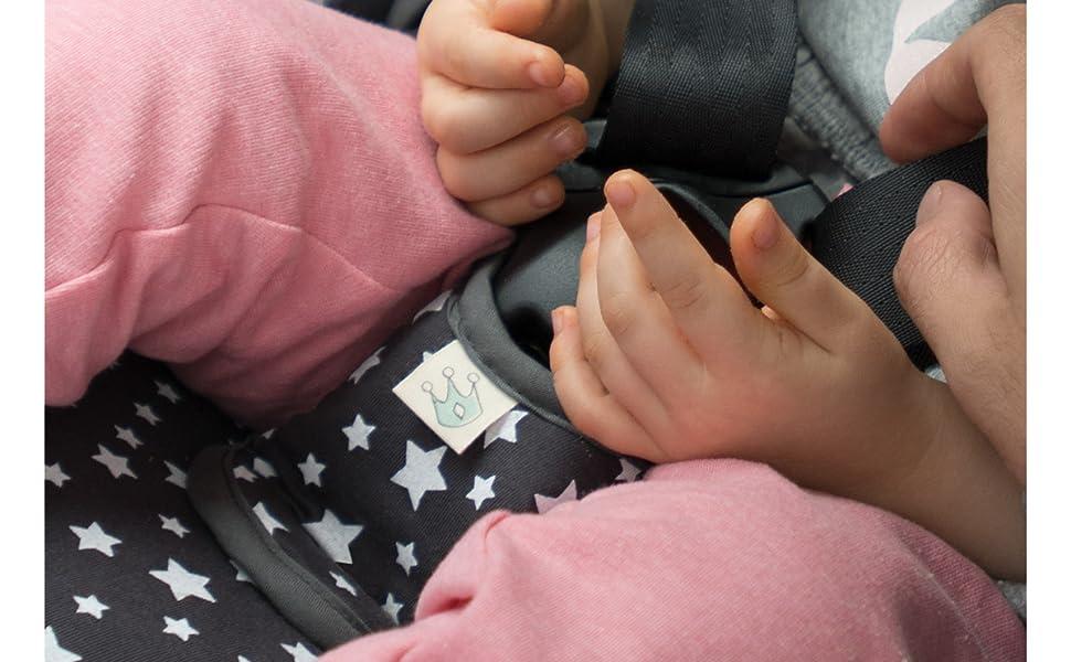 JANABEBE Protector de arnés de entrepierna para niños (BLACK RAYO ...