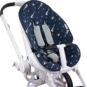 Su cochecito se verá como nuevo incluso después de uso prolongado: Ofrece la protección óptima del asiento contra la suciedad y el desgaste.
