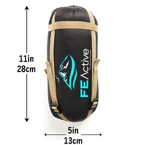 compact sleeping bag, compacto saco de dormir, paquena saco de dormir, saco de