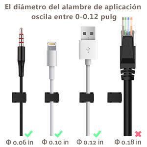 Sin usar clavos o taladro, Ninonly clips de cable adhesivo logran ayudarle a organizar todos los cables de cable pequeños ...
