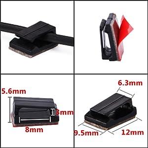 Un paquete incluye 200 PCS clips de cable adhesivo, combinación económica, ahorro de espacio ...
