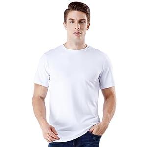 77163af029be3 wirarpa Camiseta para Hombre Algodón Manga Corta con Cuello Redondo ...