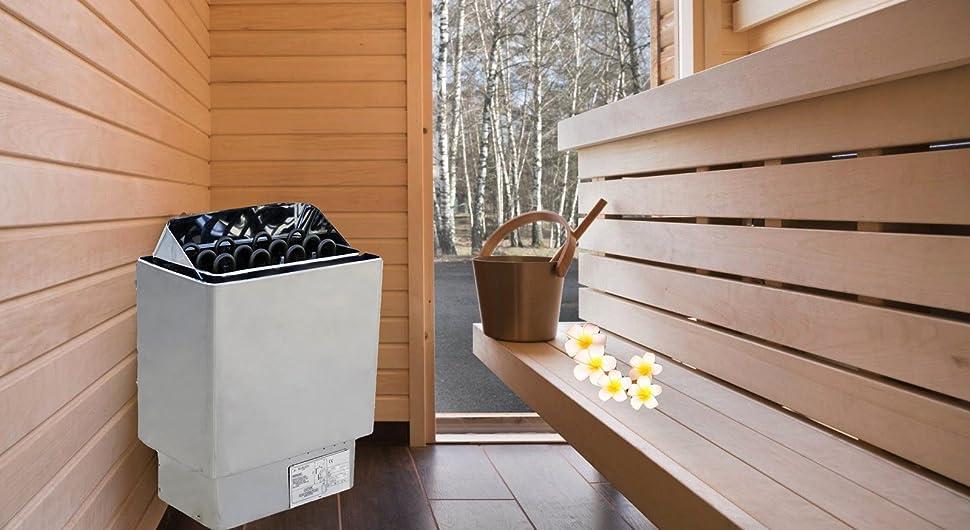 Calentador eléctrico de la sauna 6KW con el panel de control externo para el hogar Sauna Room Bath Shower Spa