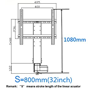 ECO-WORTHY Automazioni - Ascensore TV motorizzato verticale per TV 26-60