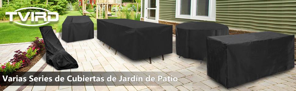 Tvird Funda para Muebles Impermeable,Funda Mesa Jardin,Cubierta para Exterior Funda Protectora Muebles Mesas Sillas Sofás Exterior 420D Oxford ...