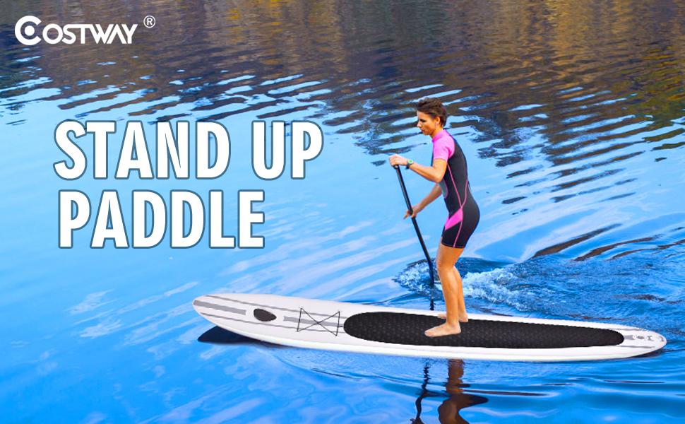 COSTWAY Tabla Hinchable Paddle Surf Sup 335 x 76 x15CM Board Stand ...