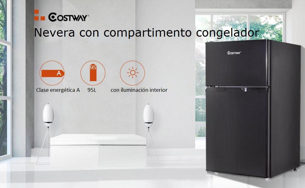 COSTWAY 95 litros Capacidad Refrigerador Nevera Frigorífico ...