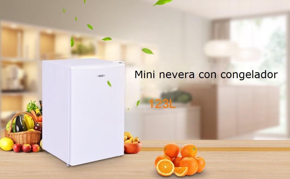 COSTWAY 123 litros Capacidad Refrigerador Nevera Frigorífico ...